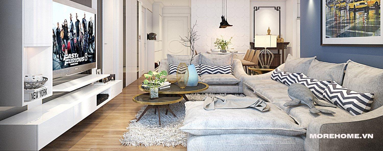 Thiết kế nội thất phòng khách chung cư Park Hill