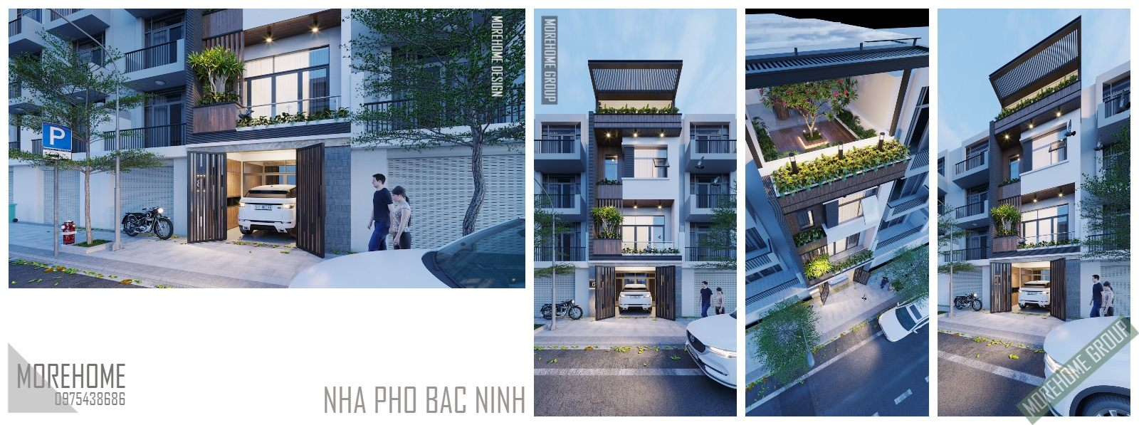 Thiết kế kiến trúc nhà phố hiện đại tại bắc ninh