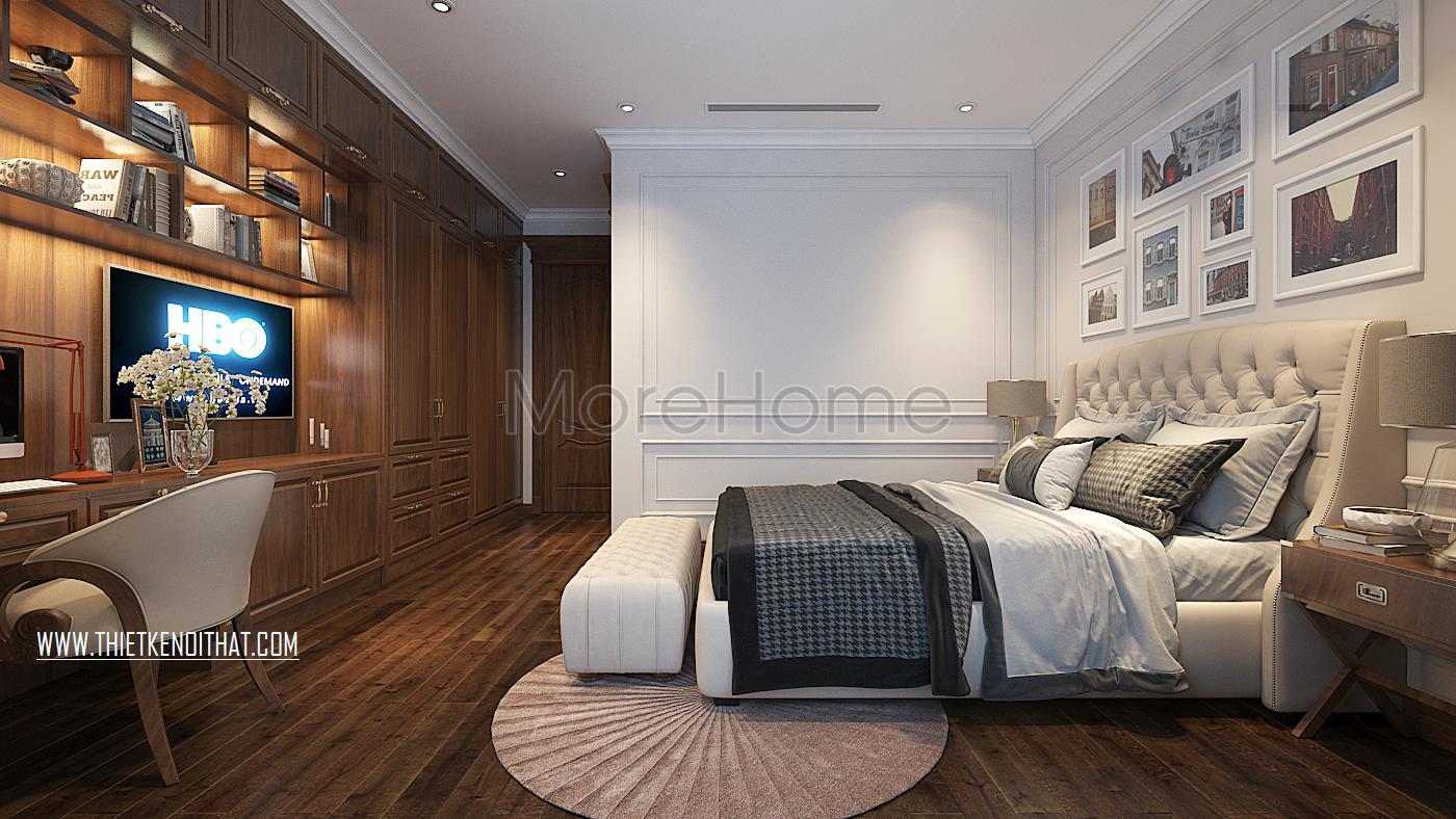 Thiết kế nội thất phòng ngủ trẻ con cho biệt thự Vinhomes GreenBay