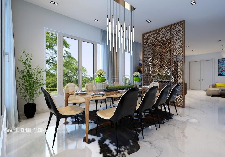 Thiết kế nội thất biệt thự Vinhomes Riverside phong cách hiện đại