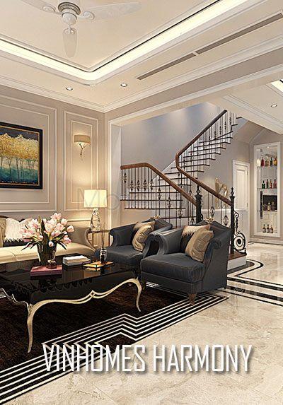Thiết kế nội thất biệt thự Vinhomes Riverside The Harmony - anh Quang Anh