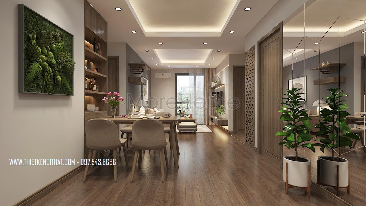 Thiết kế nội thất phòng ăn chung cư An Bình City