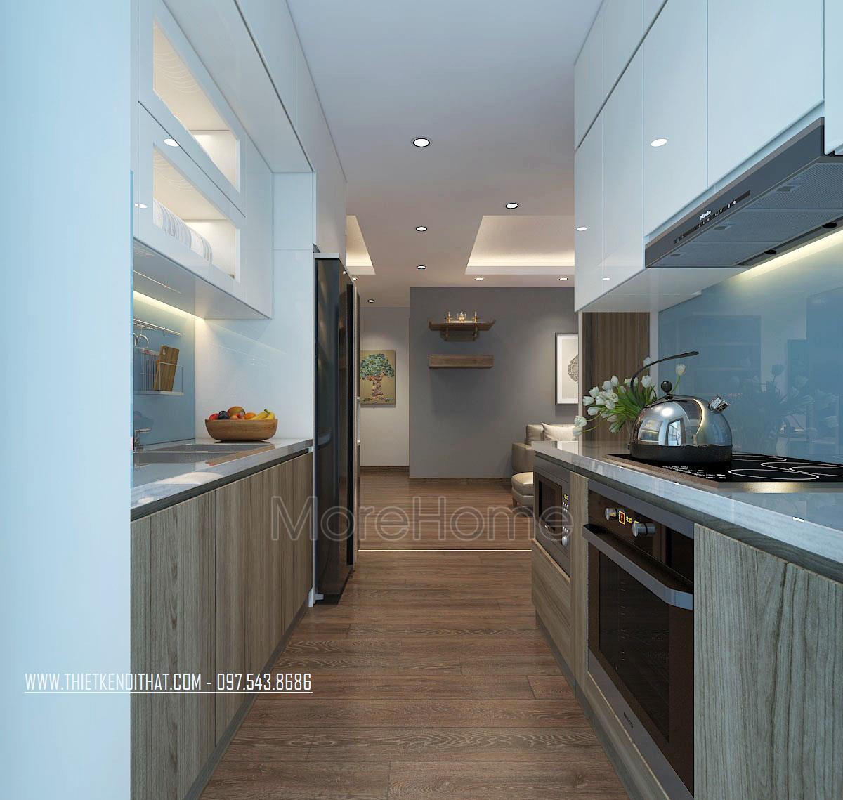 Thiết kế nội thất phòng bếp chung cư An Bình City