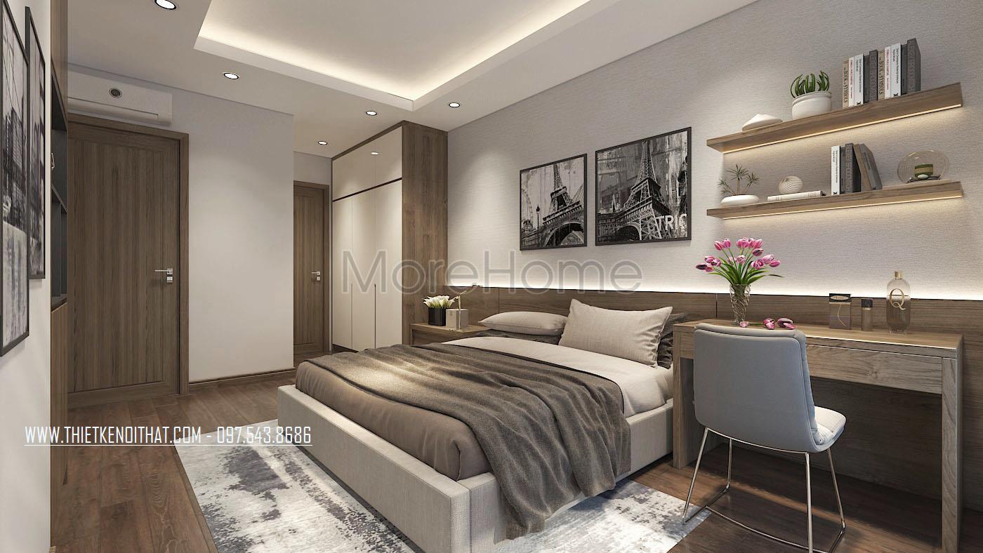 Thiết kế nội thất phòng ngủ chung cư An Bình City