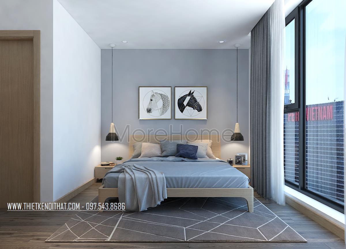 Thiết kế nội thất phòng ngủ chung cư Sun City Ancora