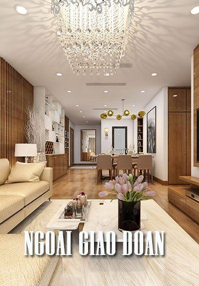 Thiết kế nội thất chung cư Ngoại Giao Đoàn - Anh Duật đẹp