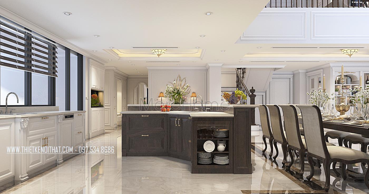 Thiết kế nội thất phòng bếp căn hộ Duplex Hapulico Thanh Xuân