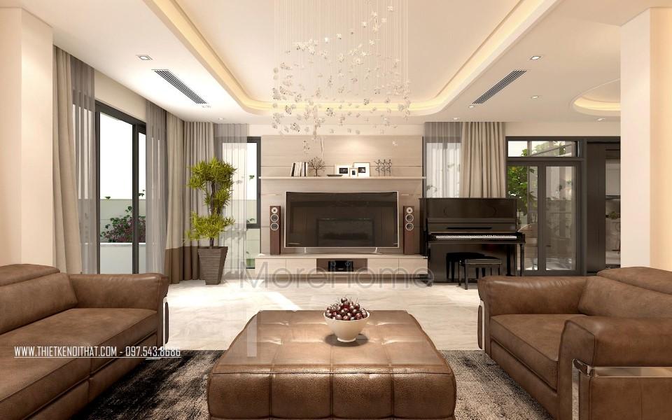 Thiết kế nội thất biệt thự đơn lập 2 tầng hiện đại Gamuda