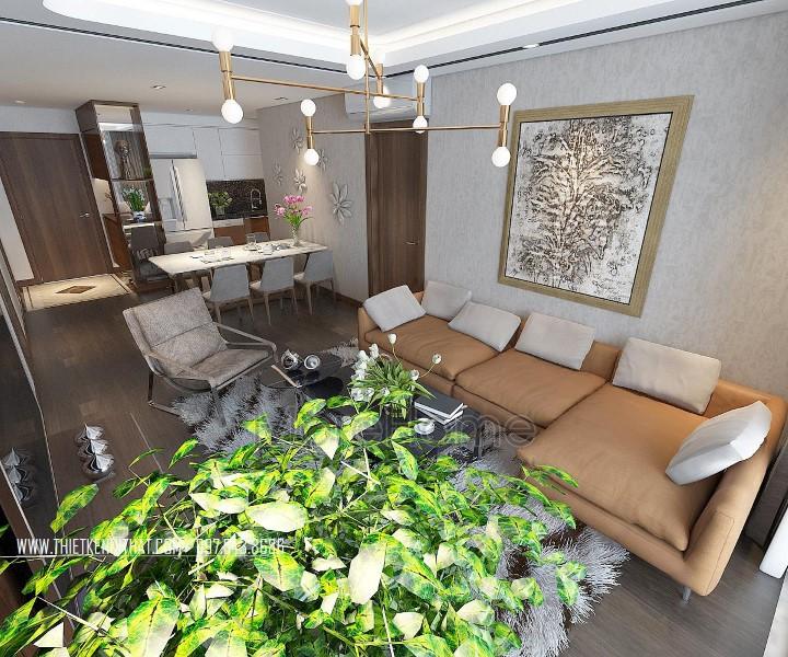 Thiết kế nội thất chung cư hiện đại GoldMark City