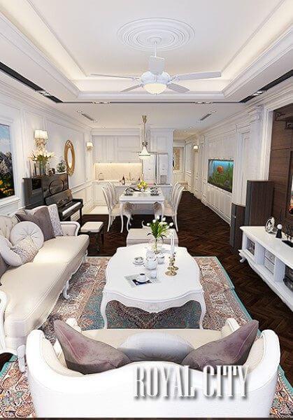 Thiết kế nội thất chung cư cao cấp Royal City - Chị Hà