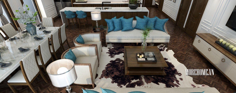 Thiết kế nội thất căn hộ Penthouse Imperia Nguyễn Huy Tưởng - Anh Tùng
