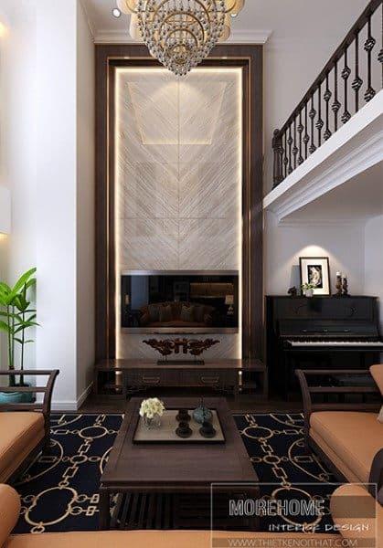 Thiết kế nội thất căn hộ chung cư DUPLEX Hà Đô phong cách Gỗ Việt sang trọng