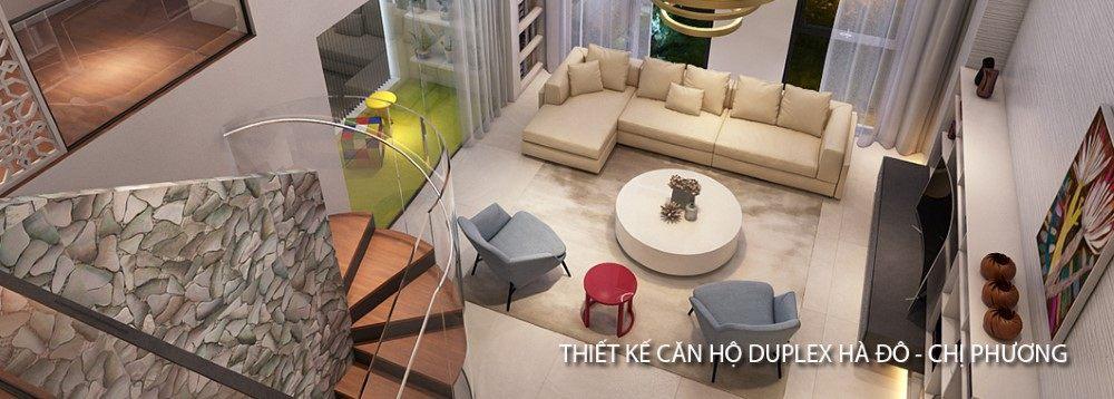 Thiết kế căn hộ Duplex tại chung cư Hà Đô