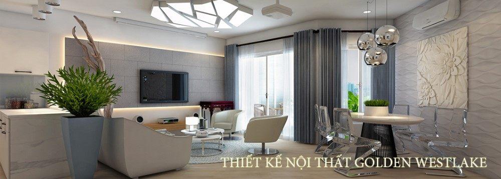Thiết kế nội thất chung cư cao cấp hiện đại Golden Westlake