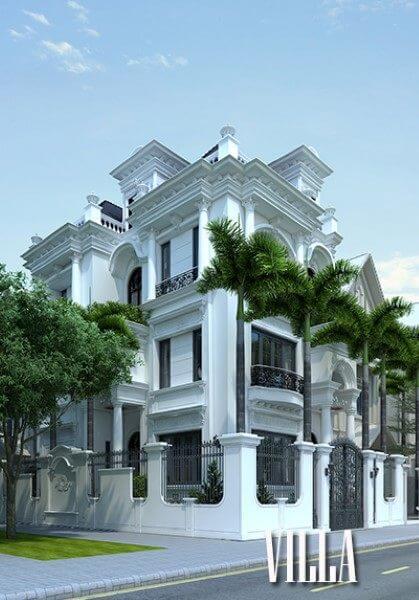 Thiết kế kiến trúc biệt thự tân cổ điển cao cấp tại Hà Nội