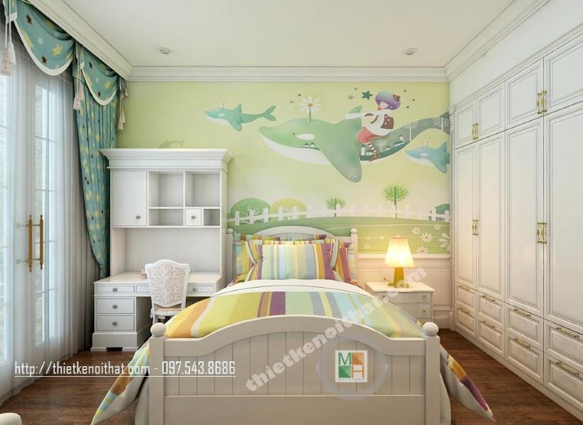 Mẫu thiết kế nội thất biệt thự Vinhomes Riverside - Vincom Village tân cổ điển sang trọng