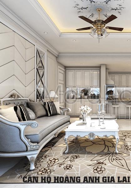 Thiết kế nội thất căn hộ chung cư cao cấp Hoàng Anh Gia Lai River View - Anh Hùng