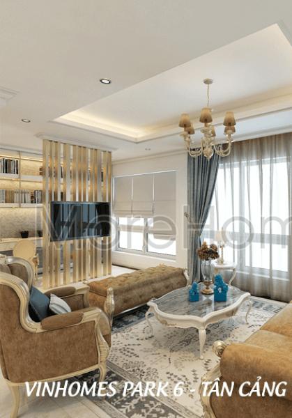 Thiết kế nội thất căn hộ chung cư Vinhomes Park 6 - Quận Bình Thạnh
