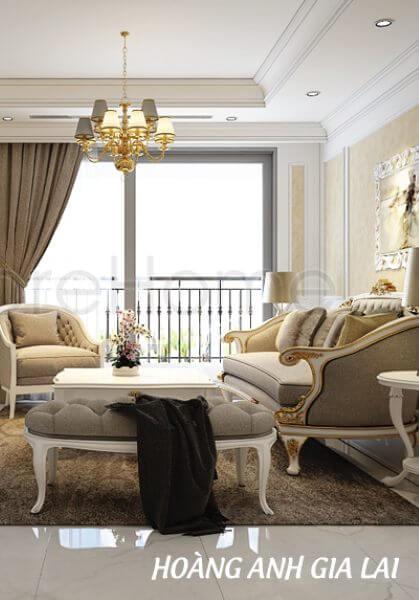 Thiết kế căn hộ chung cư Hoàng Anh Gia Lai - Phong cách tân cổ điển