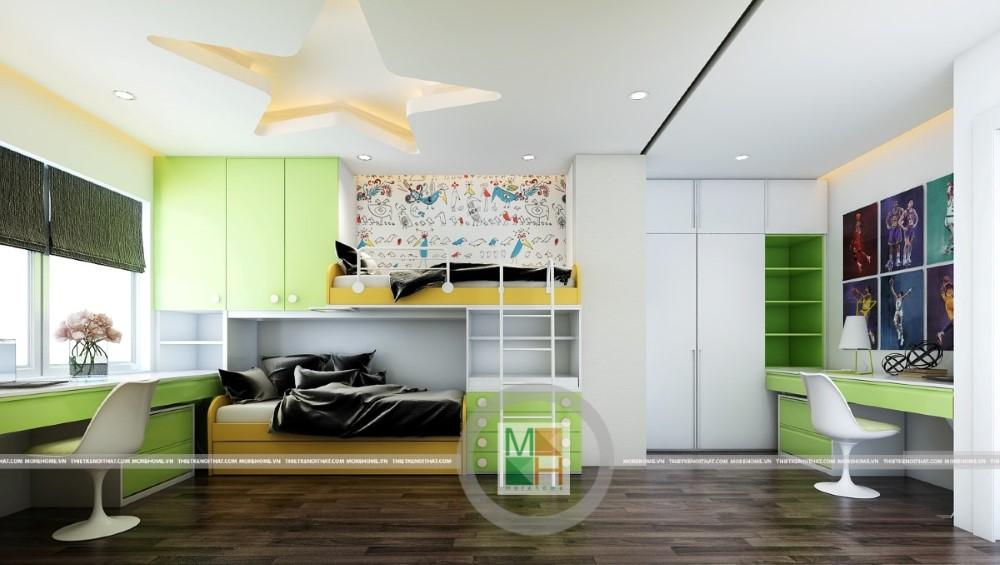 Thiết kế nội thất căn hộ chung cư Ciputra phong cách việt- Anh Tài