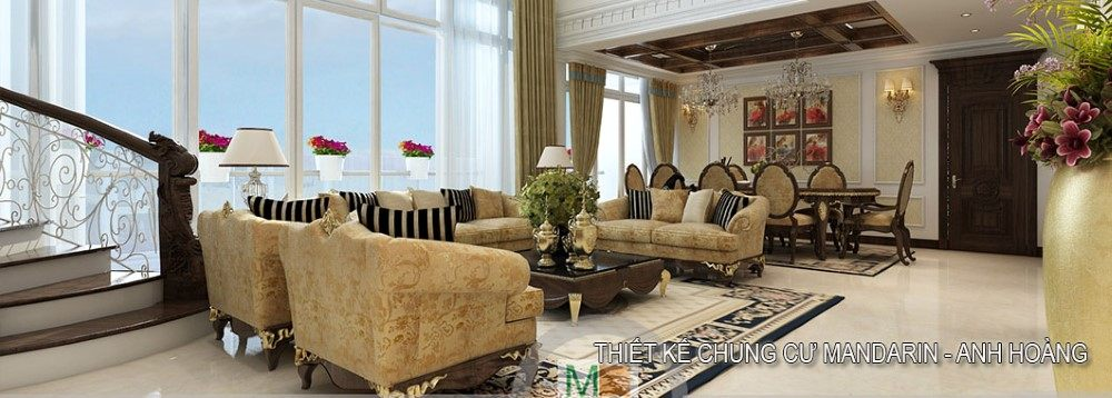 Thiết kế nội thất căn hộ DUPLEX MANDARIN