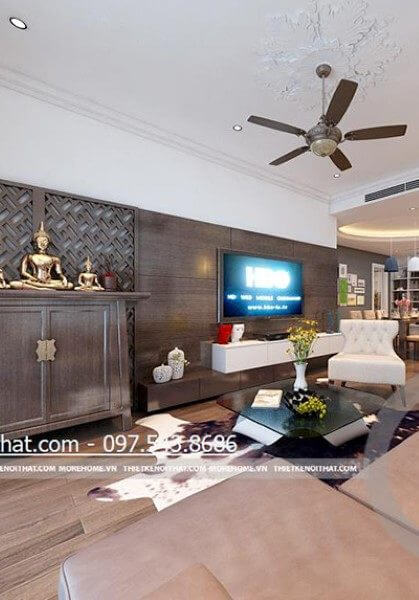 Thiết kế nội thất chung cư Mandarin Garden - Anh Chung