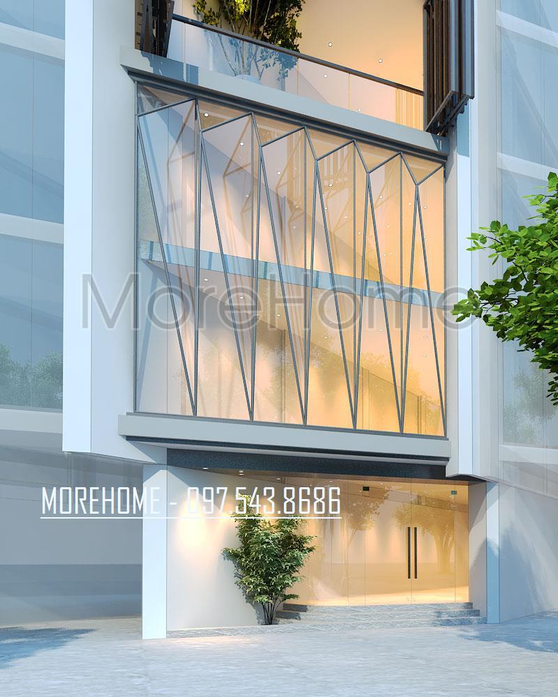 Thiết kế kiến trúc nhà phố Lạc Long Quân