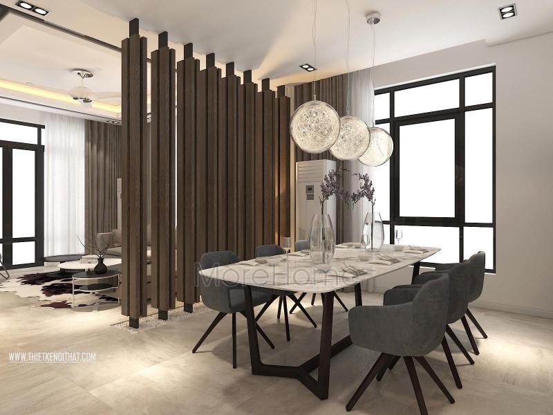 Thiết kế nội thất nhà phố hồ tây Hà Nội hiện đại