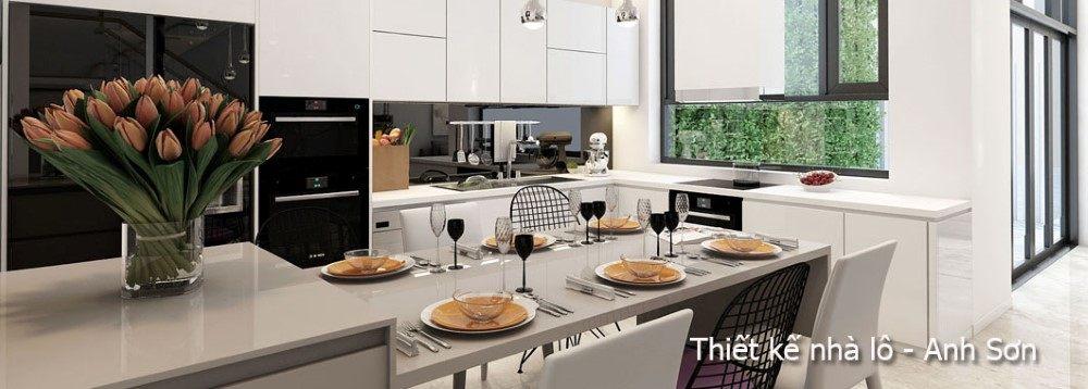 Thiết kế nội thất nhà lô hiện đại