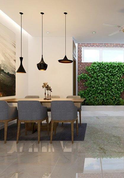 Thiết kế nội thất nhà phố Hoàng Quốc Việt ấn tượng với đá cao cấp