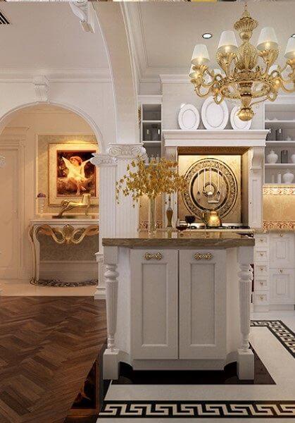 Thiết kế nội thất tân cổ điển chung cư R1- Royal City sang trọng - [Chị Mai]