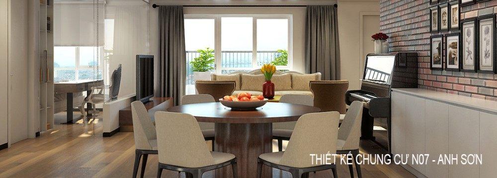 Thiết kế nội thất chung cư N07