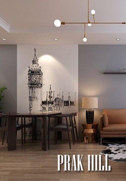 Thiết kế thi công nội thất chung cư Park Hill cao cấp, sang trọng