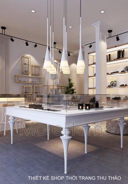 Thiết kế shop thời trang nữ Thu Thảo Boutique hiện đại nhưng khá tinh tế.