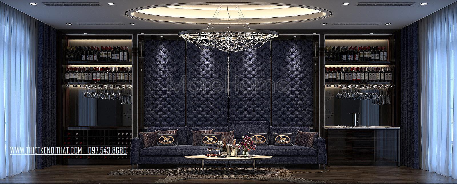 Thiết kế nội thất phòng giải trí biệt thự Vinhomes Imperia hải phòng