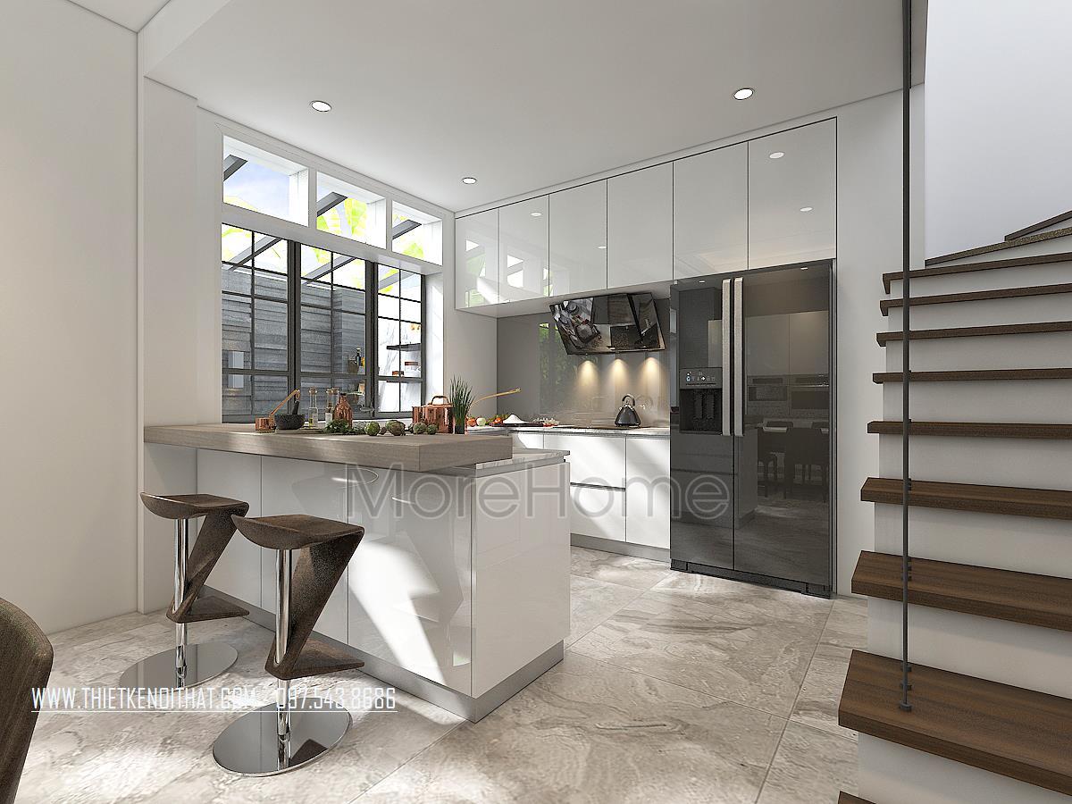 Thiết kế nội thất khu bếp biệt thự Vinhomes Imperia hải phòng