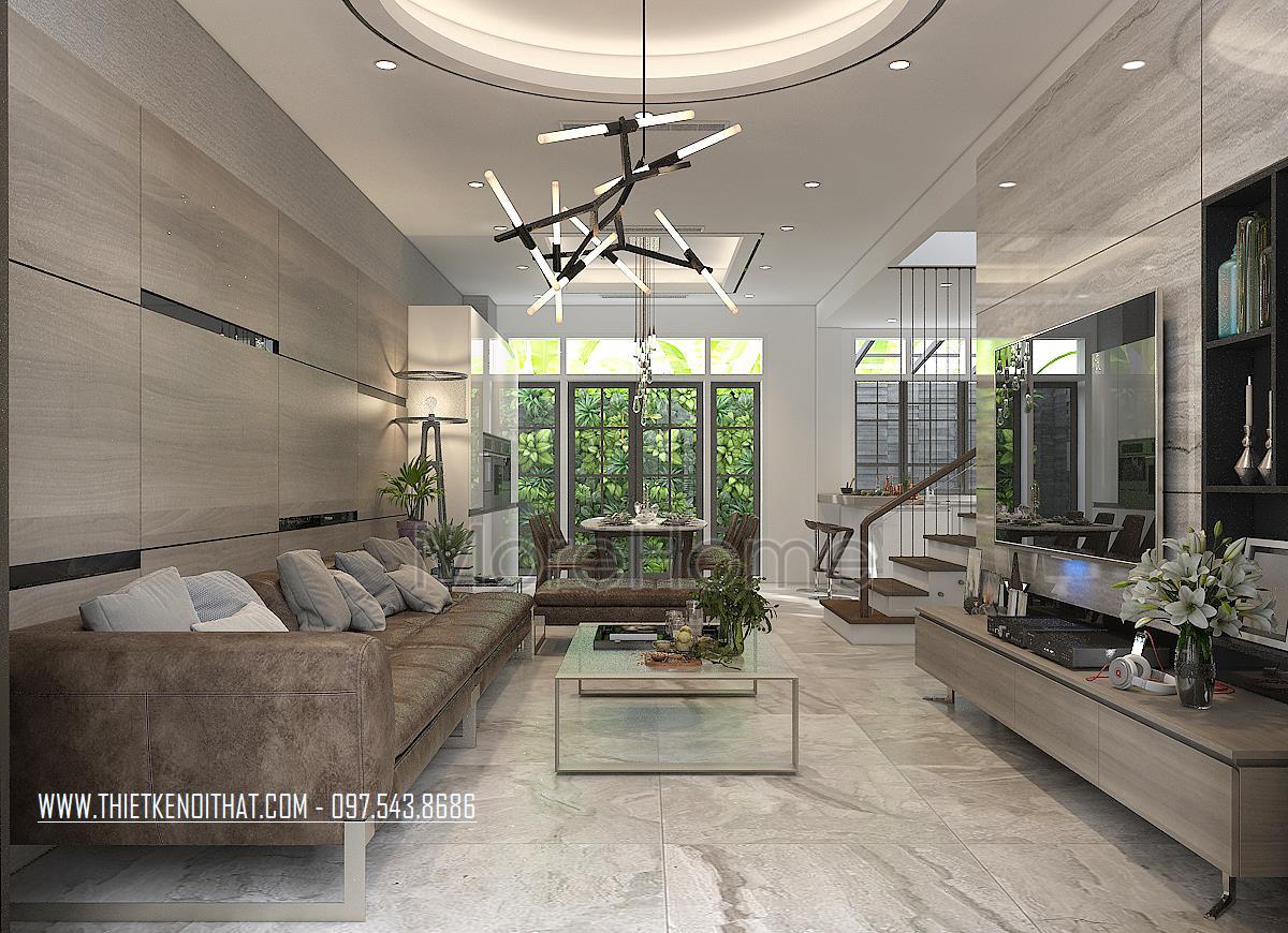Thiết kế nội thất phòng khách biệt thự Vinhomes Imperia hải phòng