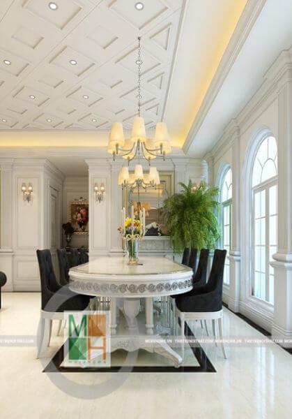Thiết kế nội thất nhà phố tân cổ điển Tôn Đức Thắng - Chị Nhung