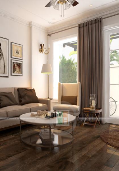 Thiết kế nội thất nhà lô phố  - chị Trang một vẻ đẹp trầm, ấm
