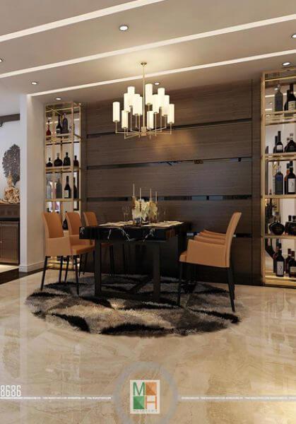 Thiết kế nội thất căn hộ  chung cư Thăng Long Number One - Nha Anh Hải