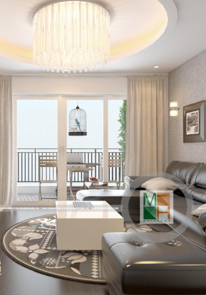 Thiết kế nội thất căn hộ chung cư N04 - Anh Tuấn phong cách hiện đại