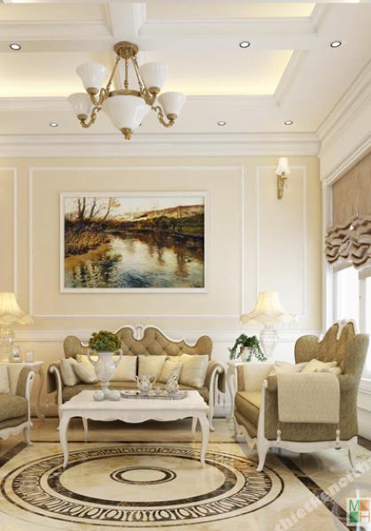 Thiết kế nội thất biệt thự tân cổ điển cao cấp Vincom Village - nhà anh Ngọc