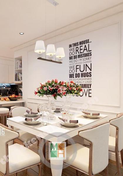 Thiết kế nội thất chung cư Mandarin Hòa Phát - Chị Nhung
