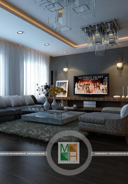 Thiết kế nội thất chung cư hiện đại, sang trọng Mipec - Anh Cường