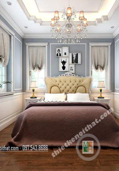 Mẫu thiết kế nội thất biệt thự Vinhomes Riverside tân cổ điển sang trọng