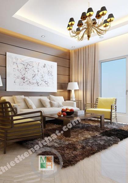 Thiết kế nội thất căn hộ chung cư Thăng Long Number One Hiện Đại - Nhà Anh Việt
