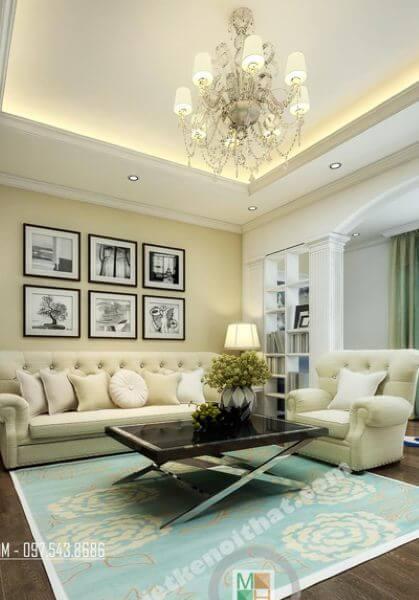 Thiết kế nội thất căn hộ chung cư TimesCity tân cổ điển - Nhà Anh Công
