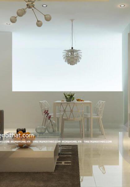 Cải tạo nội thất căn hộ nhỏ 66m2 hiện đại đẹp - Quận 7 - Hồ Chí Minh