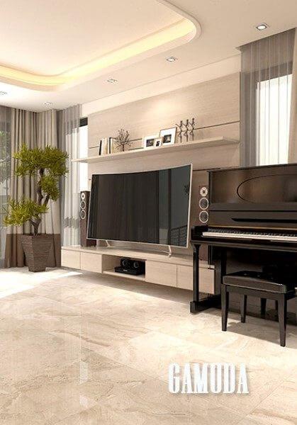 Thiết kế nội thất biệt thự hiện đại Gamuda - Anh Dũng