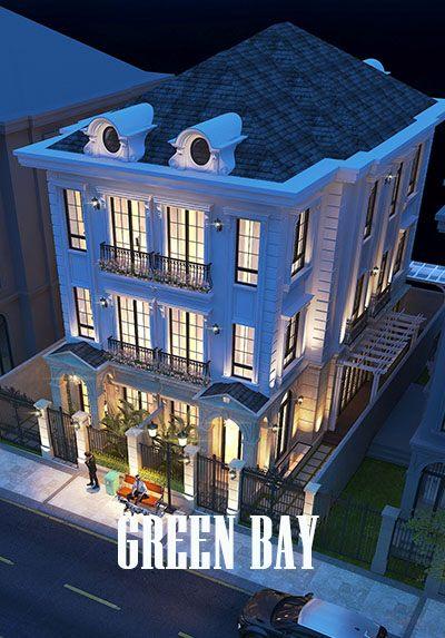 Thiết kế biệt thự cao cấp VINHOMES GREEN BAY kiến trúc đẹp